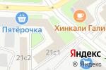Схема проезда до компании Формула штор в Москве