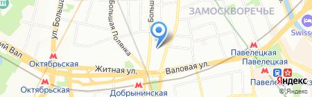 Пятницкая 74 на карте Москвы