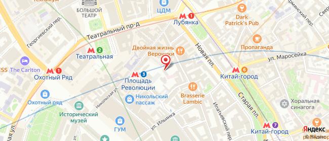 Карта расположения пункта доставки Москва Большой Черкасский в городе Москва