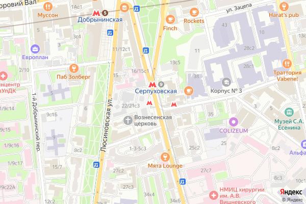 Ремонт телевизоров Метро Серпуховская на яндекс карте