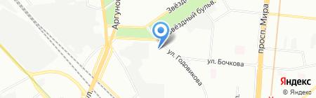 Ателье на Звёздном бульваре на карте Москвы