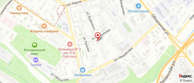 Карта расположения пункта доставки На Буденного в городе Тула