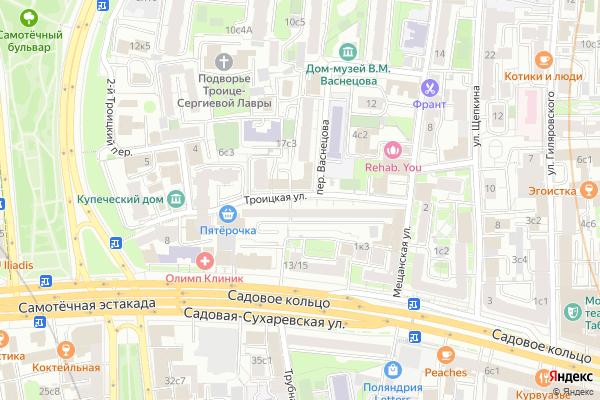 Ремонт телевизоров Улица Троицкая на яндекс карте