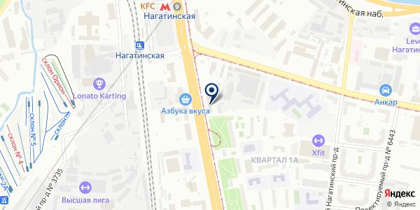 Почта России №117997 на карте Москве