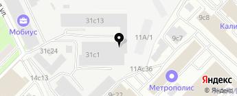 Бус-авто на карте Москвы