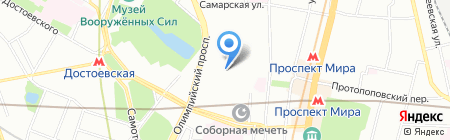 Скандинавские палки Норди-палки на карте Москвы