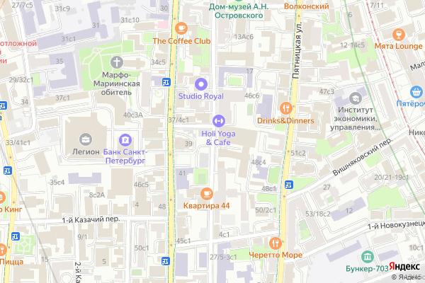 Ремонт телевизоров Улица Малая Ордынка на яндекс карте