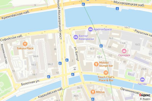 Ремонт телевизоров Улица Балчуг на яндекс карте