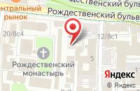 Схема проезда до компании Продер в Москве