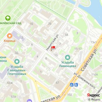 г. Тула, ул. Дзержинского,11 на карта