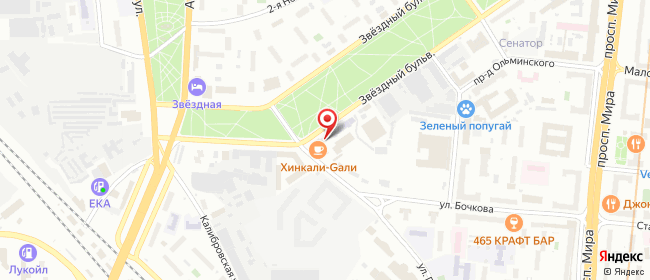 Карта расположения пункта доставки Москва Звёздный в городе Москва