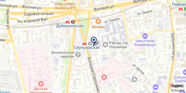 Магазин табачной продукции на карте Москве