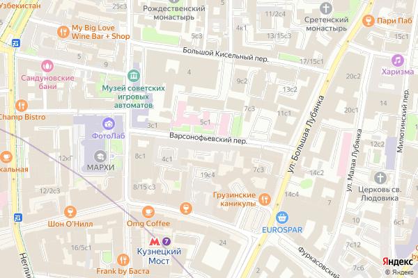 Ремонт телевизоров Варсонофьевский переулок на яндекс карте