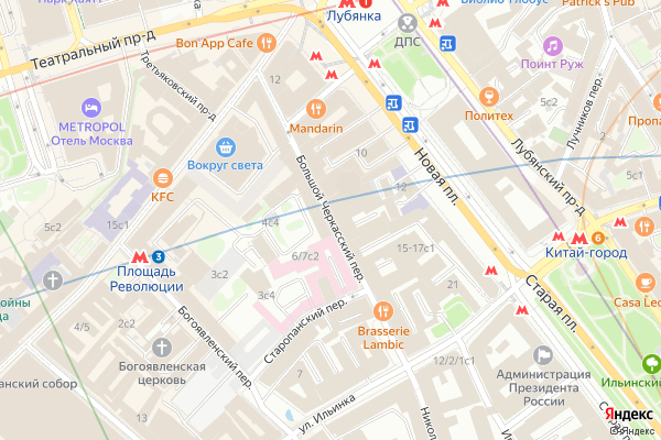 Ремонт телевизоров Большой Черкасский переулок на яндекс карте
