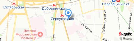Московская Школа Йоги на Серпуховской на карте Москвы