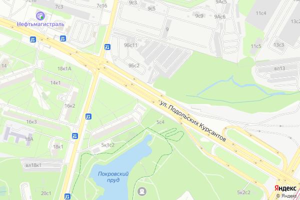 Ремонт телевизоров Улица Подольских Курсантов на яндекс карте