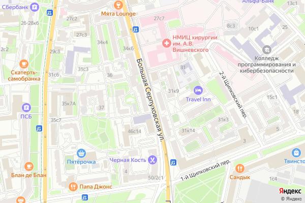Ремонт телевизоров Улица Большая Серпуховская на яндекс карте