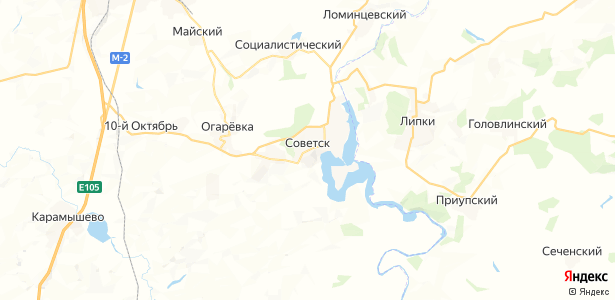 Советск на карте