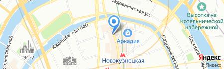Каскад Вояж на карте Москвы