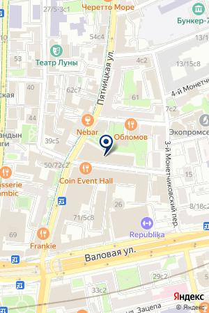 ПРОИЗВОДСТВЕННОЕ ПРЕДПРИЯТИЕ РУСОЙЛ-МОСКВА на карте Москвы