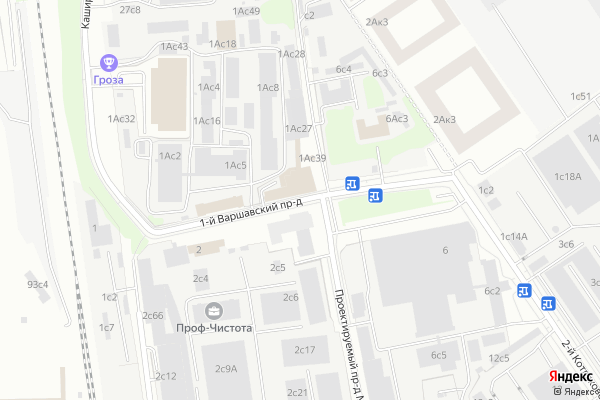 Ремонт телевизоров 1 й Варшавский проезд на яндекс карте