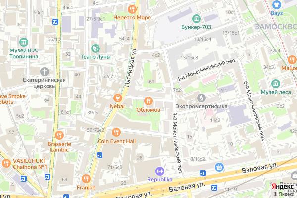 Ремонт телевизоров 1 й Монетчиковский переулок на яндекс карте