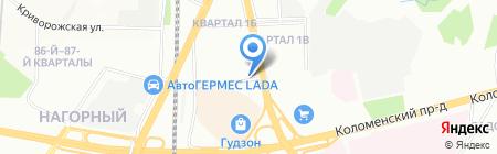 Ника-Бон на карте Москвы