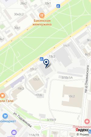 АВТОБАЗА № 1 на карте Москвы