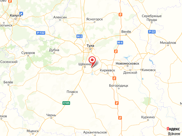 деревня Щёкино на карте