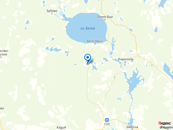 поселок Березник на карте