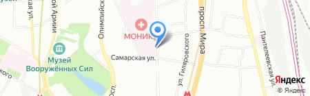 Храм в Честь Иконы Божией Матери Всех Скорбящих Радость на карте Москвы