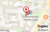 Схема проезда до компании Фонд Русской Культуры в Москве