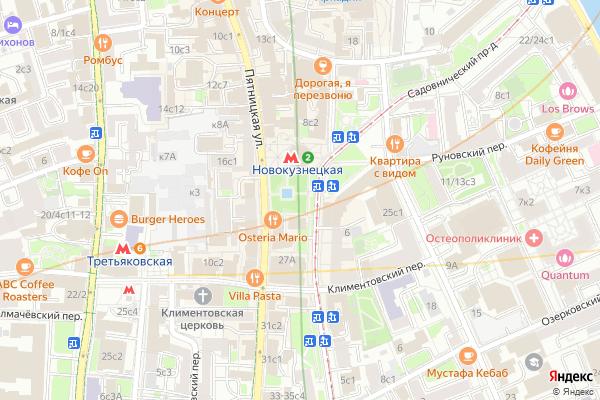 Ремонт телевизоров Метро Новокузнецкая на яндекс карте