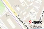 Схема проезда до компании The Tunnel в Москве