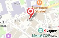 Схема проезда до компании Страховой Мир в Москве