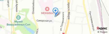 ФЕЛИЦА на карте Москвы