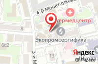Схема проезда до компании Асход в Москве