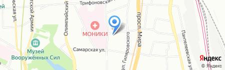 Административно-техническая инспекция Центрального административного округа на карте Москвы