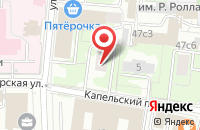 Схема проезда до компании Академия флебологии в Москве