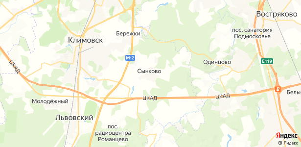 Сынково на карте