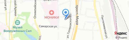КОМПАНИЯ ПРОМСЕРВИС на карте Москвы