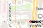 Схема проезда до компании Ателье на проспекте Мира в Москве