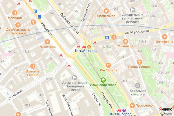 Ремонт телевизоров Метро Китай город на яндекс карте