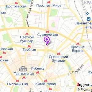 Столичная Медицинская Клиника на Сретенке на карте
