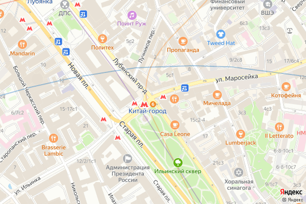 Ремонт телевизоров Лубянский проезд на яндекс карте