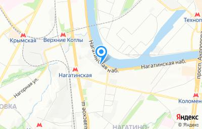 Местоположение на карте пункта техосмотра по адресу г Москва, проезд Нагатинский 1-й, д 2 стр 32