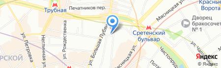Расчёсошная на карте Москвы