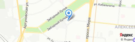 Столичные зеркала на карте Москвы