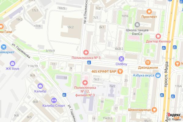 Ремонт телевизоров Улица Бочкова на яндекс карте