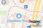 Схема проезда до компании Yves Rocher в Москве